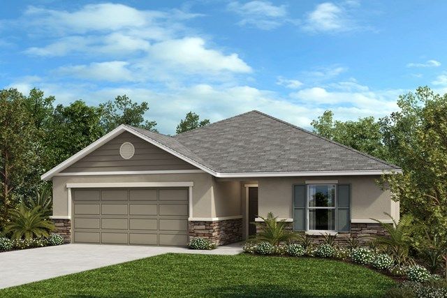 New Homes in Lakeland, FL - Elevation F (with optional Stone)