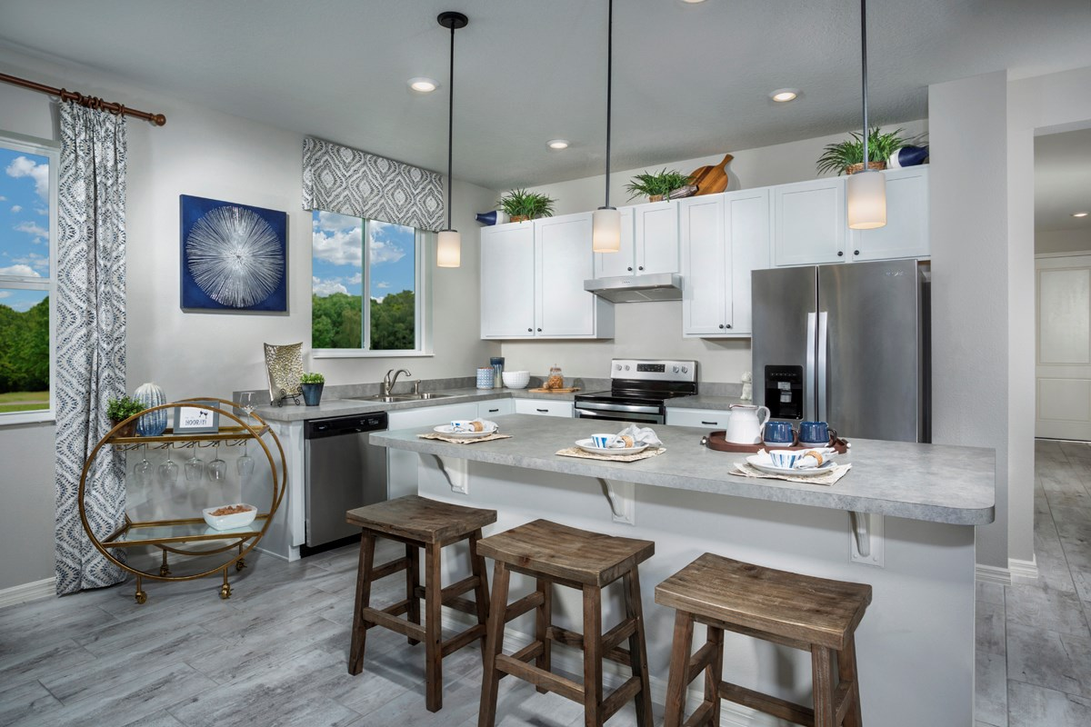 New Homes in Lakeland, FL - Cayden Reserve 2168 Kitchen