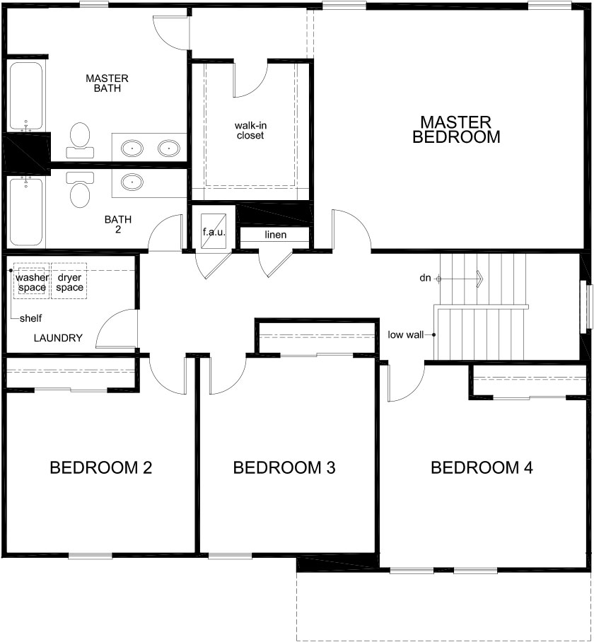 floor plan of second floor