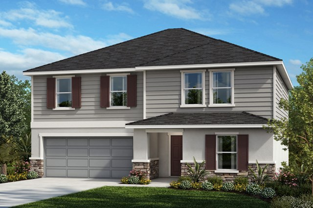 New Homes in Winter Haven, FL - Elevation E (with optional Stone)