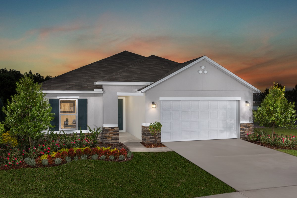 New Homes in Winter Haven, FL - Lake Lucerne Plan 1707 as modeled at Gramercy Farms