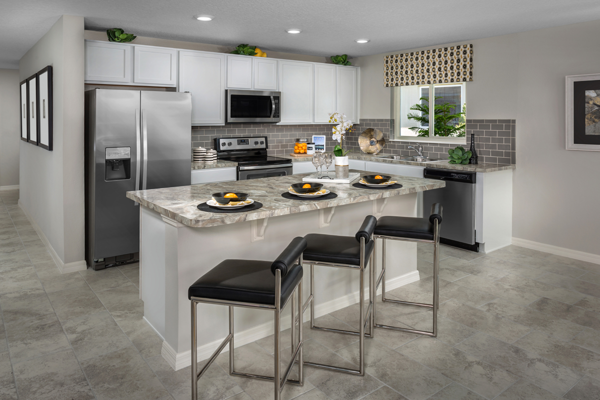 New Homes In Winter Haven, FL   Lake Lucerne 1707 Kitchen As Modeled At  Gramercy