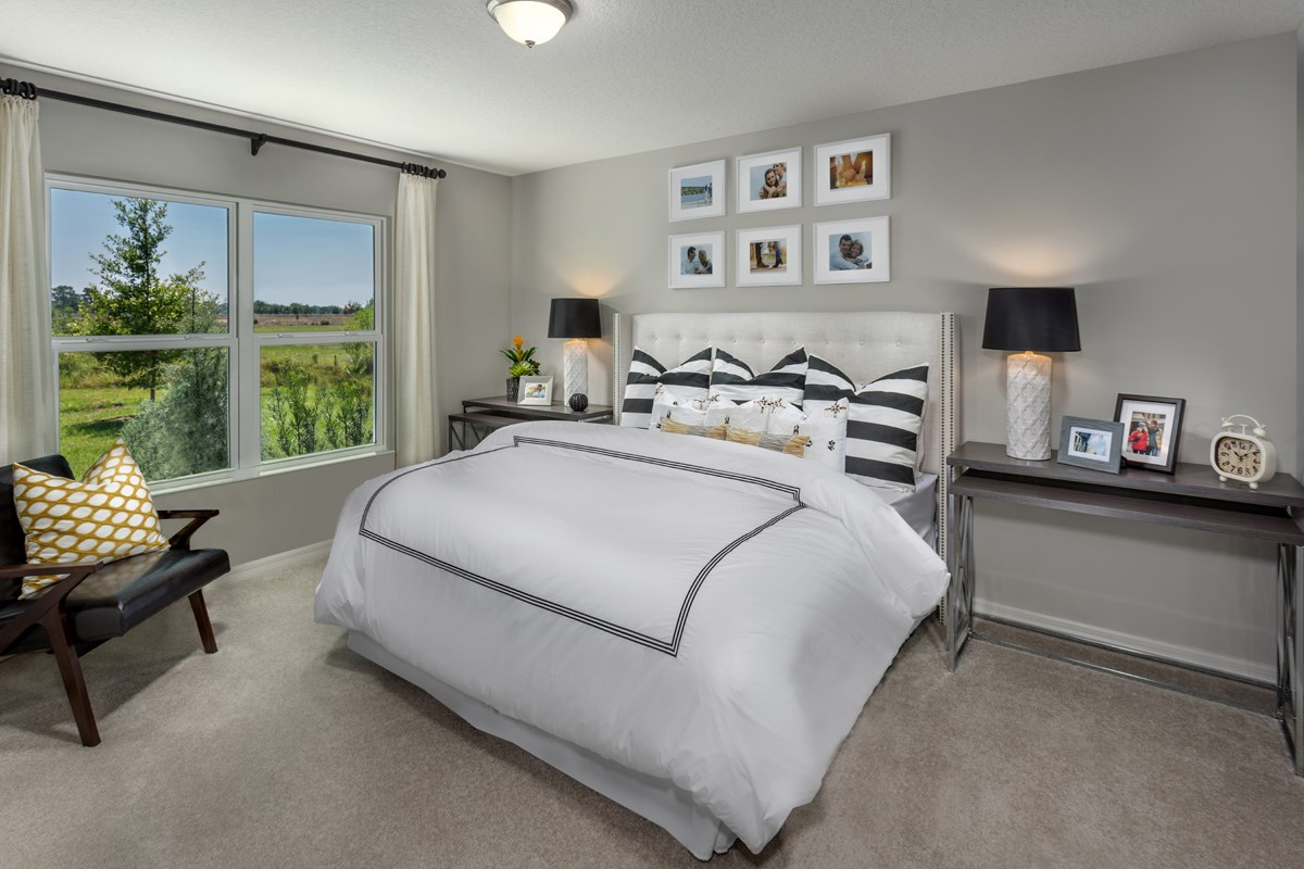New Homes in Winter Haven, FL - Lake Lucerne 1707 Master Bedroom as modeled at Gramerct Farms
