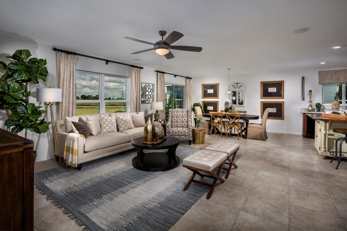 New Homes in Winter Haven, FL - Lake Lucerne 1707 Great Room