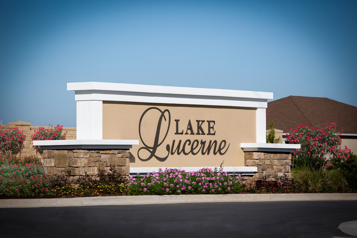 New Homes in Winter Haven, FL - Lake Lucerne Community Entry Wall