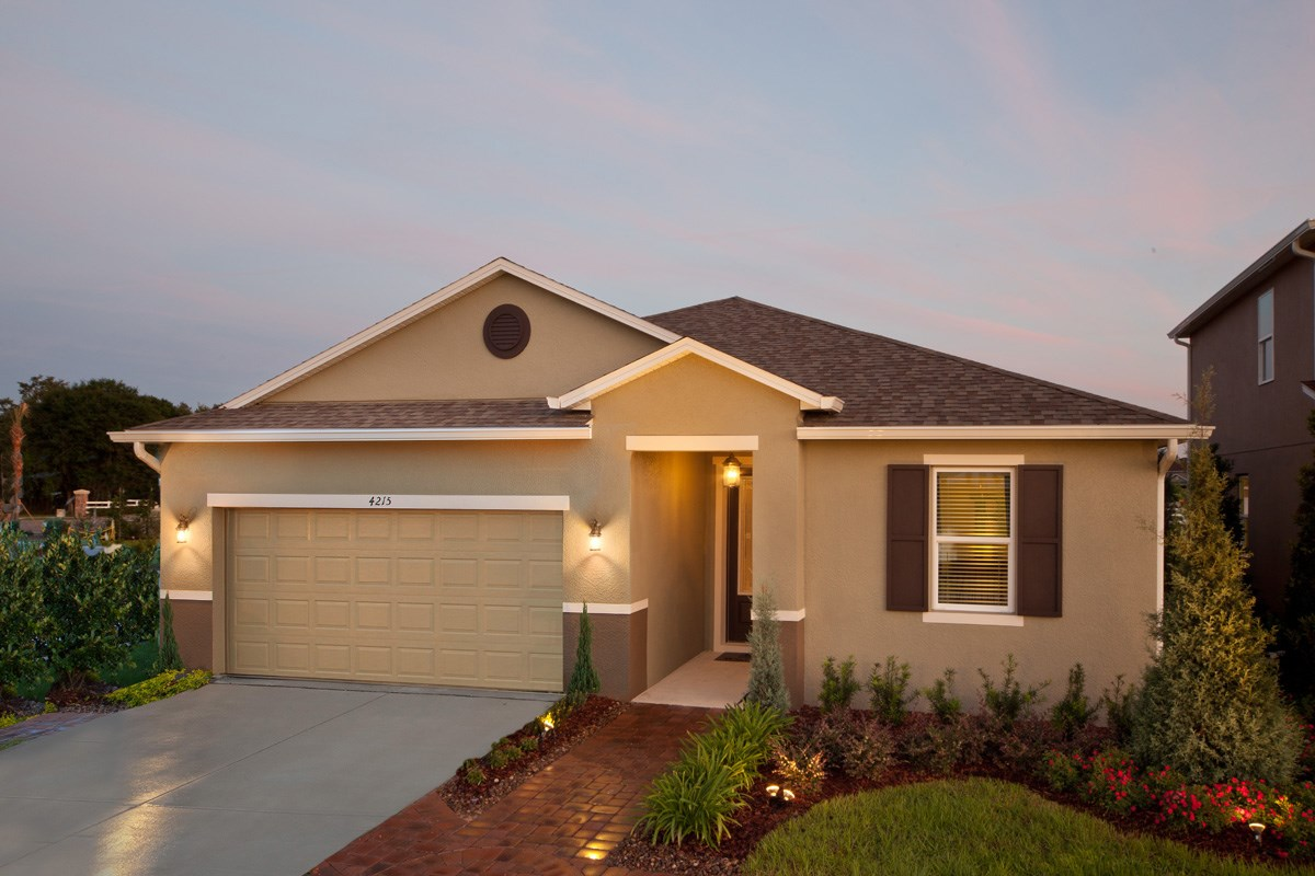 New Homes in Winter Haven, FL - Lake Lucerne Plan 2003 as modeled at Sundance Fields