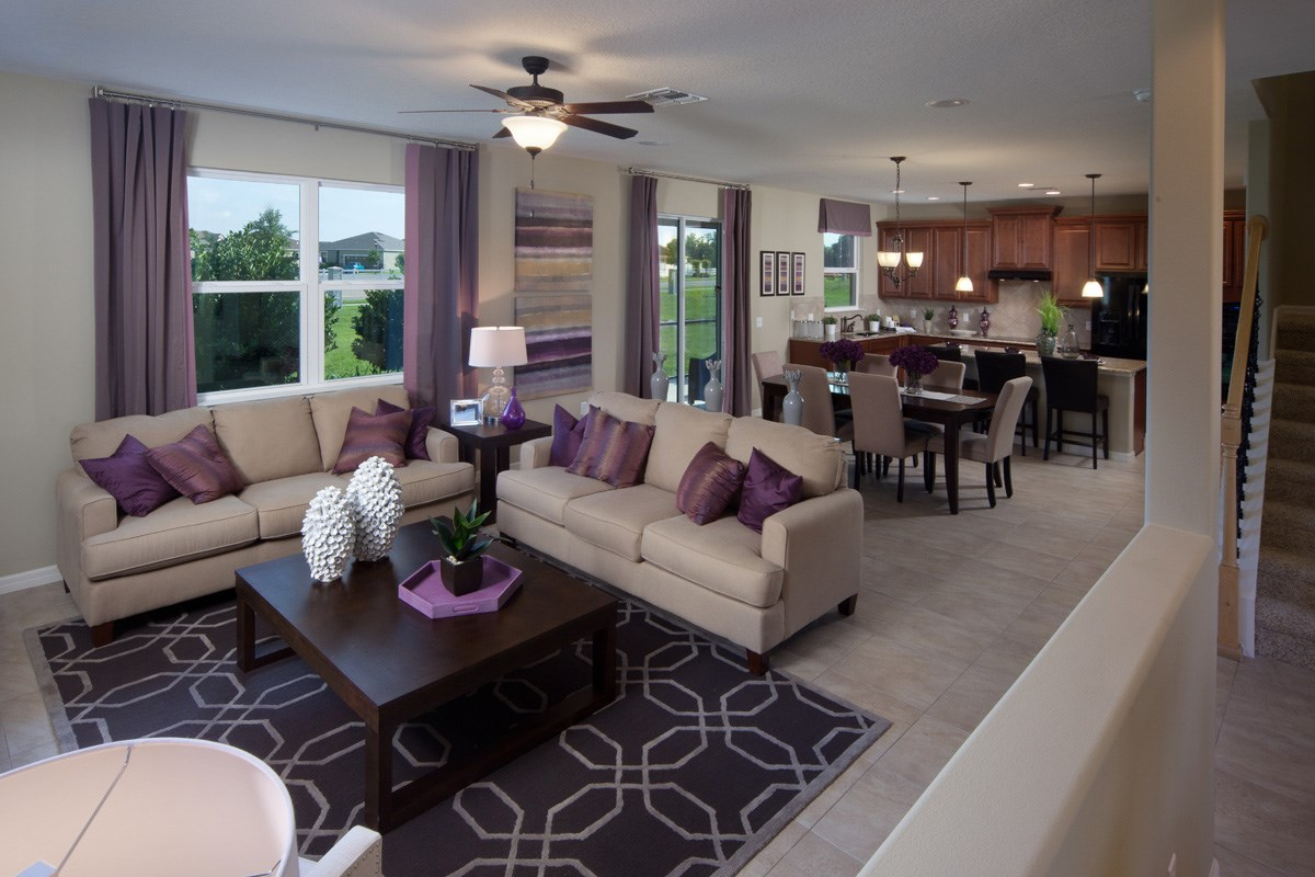 New Homes in Mulberry, FL - Sundance Fields 2550 Great Room