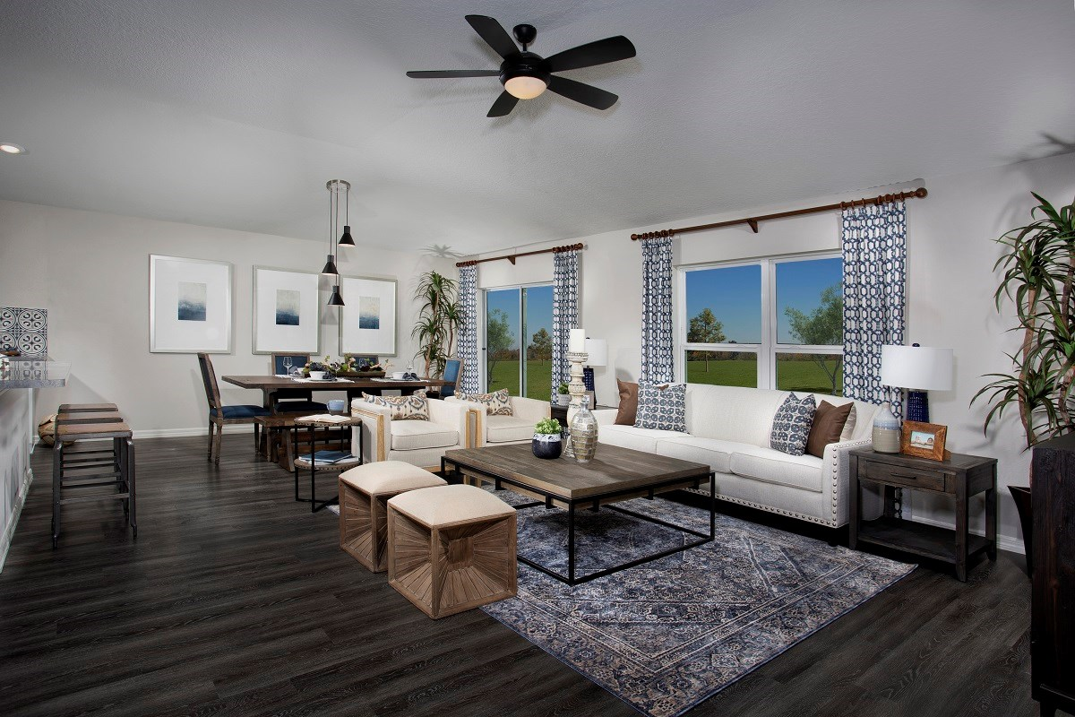 New Homes in St. Cloud, FL - Canoe Creek Crossings Plan 1760 Great Room