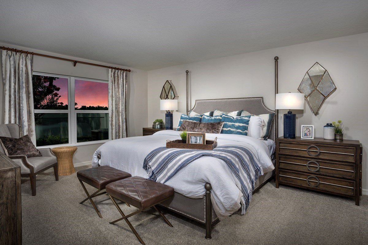 New Homes in St. Cloud, FL - Canoe Creek Crossings Plan 1760 Master Bedroom