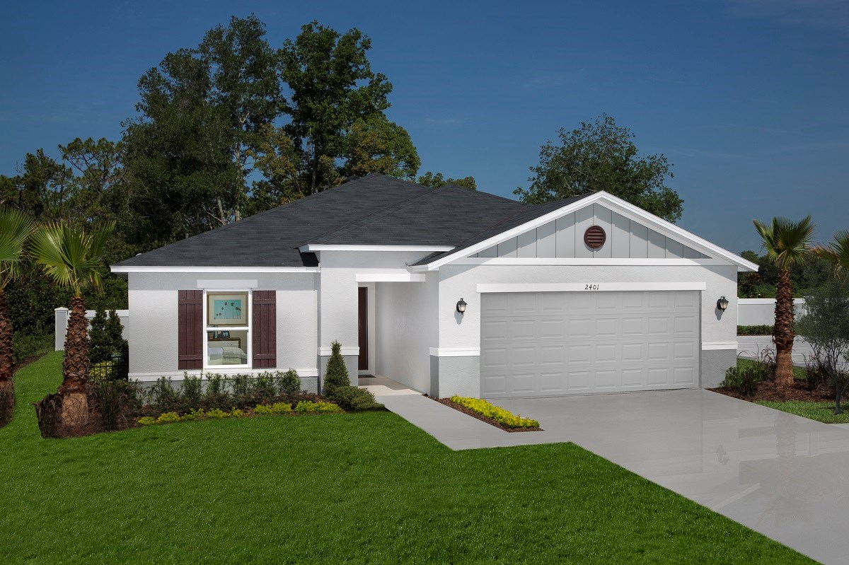New Homes in St. Cloud, FL - Canoe Creek Crossings Plan 1760 Exterior