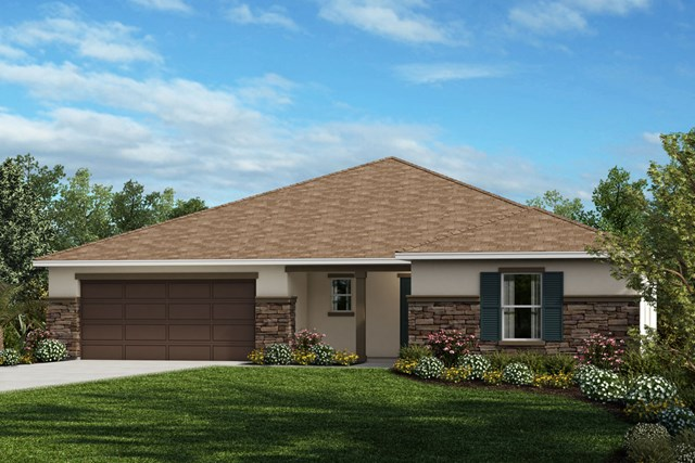 New Homes in Apopka, FL - Elevation A with optional stone