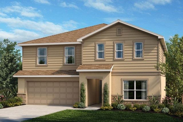 New Homes in Apopka, FL - Elevation F with optional stone