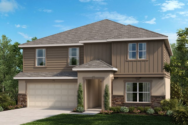 New Homes in Apopka, FL - Elevation H w/optional stone