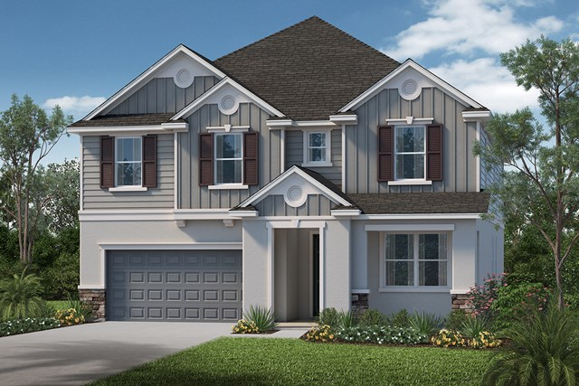 New Homes in Apopka, FL - Elevation I with optional stone