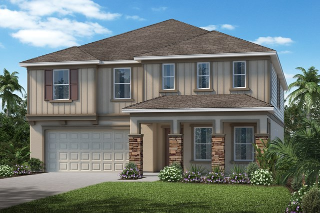 New Homes in Apopka, FL - Elevation H with optional stone