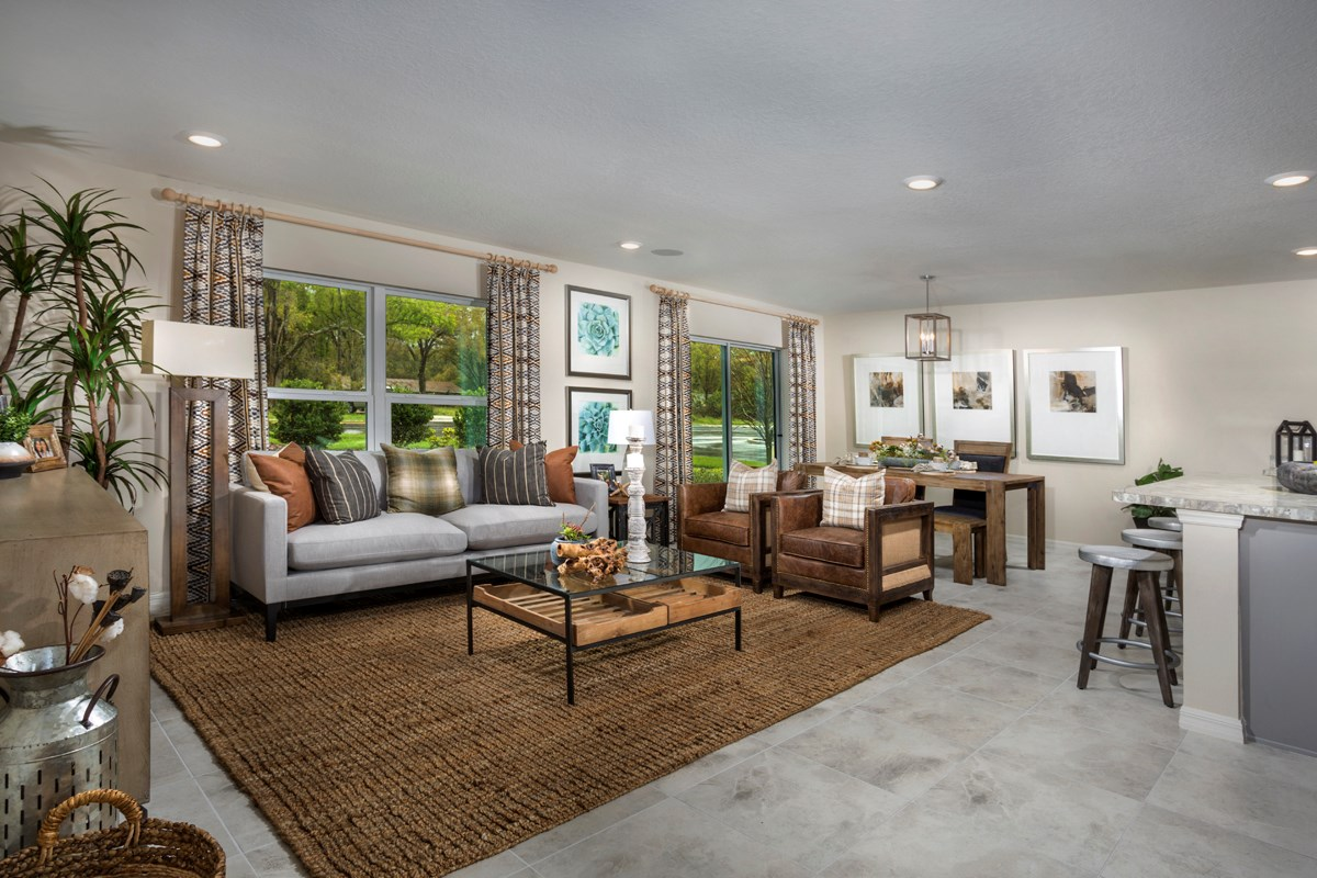 New Homes in Kissimmee, FL - Casa Bella Plan 1541 Great Room as modeled at Cayden Reserve