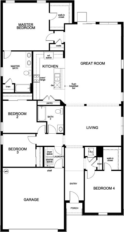 New Homes in Kissimmee, FL - Plan 2333, First Floor