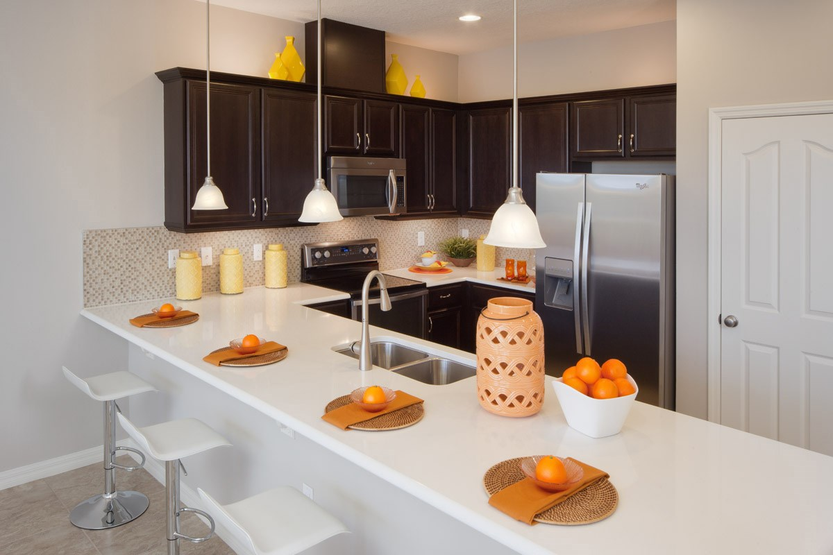 New Homes in Kissimmee, FL - Compass Bay Townhomes 1598 Kitchen