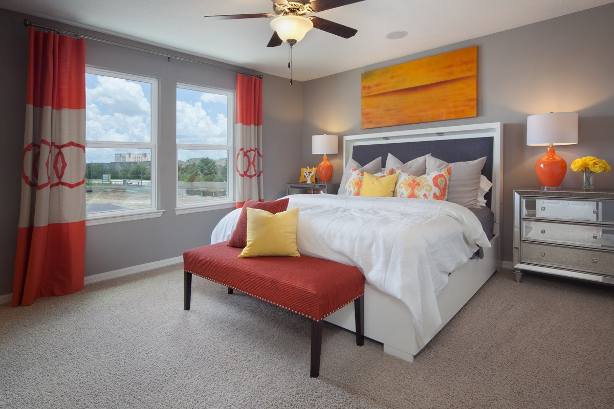 New Homes in Kissimmee, FL - Compass Bay Townhomes 1598 Master Bedroom