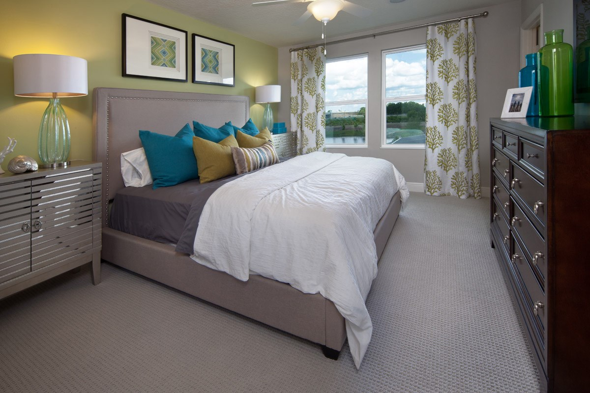 New Homes in Kissimmee, FL - Compass Bay Townhomes 1700 Master Bedroom