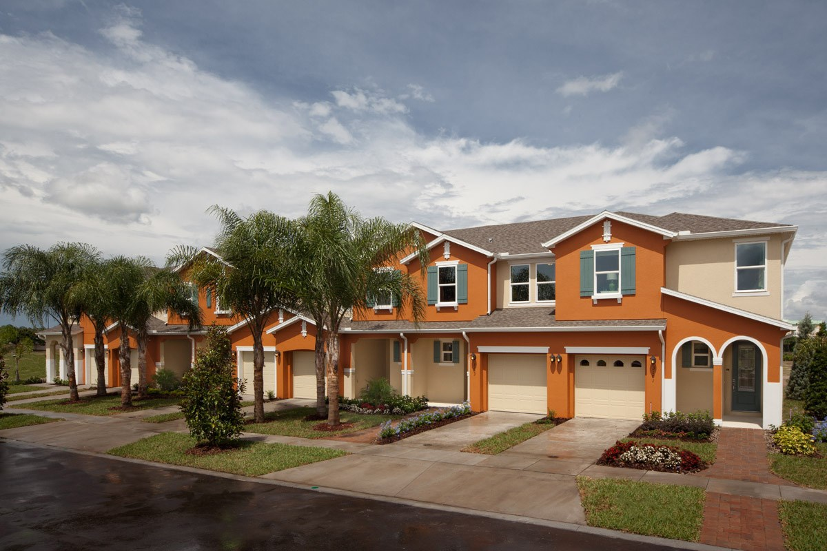 New Homes in Kissimmee, FL - Compass Bay Townhomes Exterior