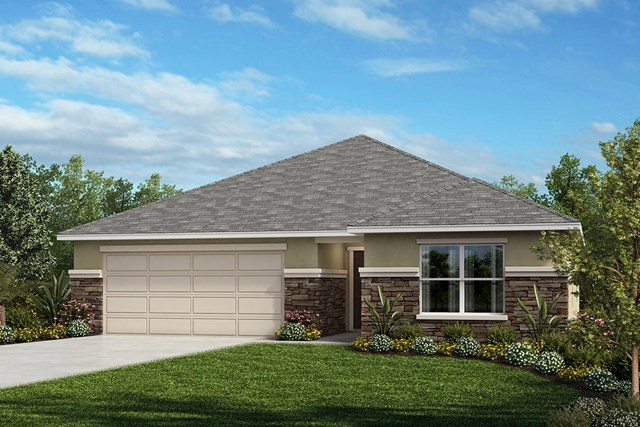 New Homes in Orlando, FL - Elevation A (with optional Stone)
