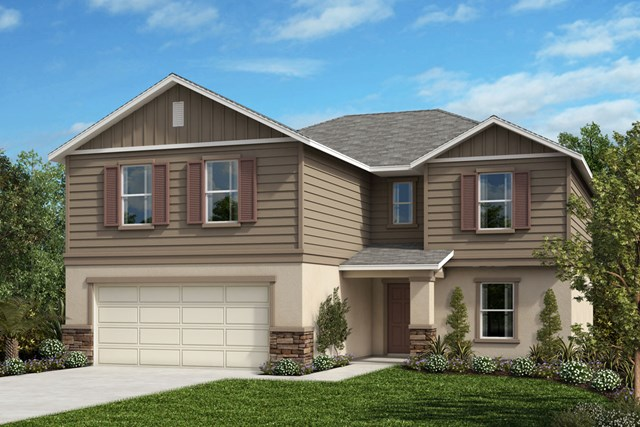 New Homes in Orlando, FL - Elevation H (with optional Stone)