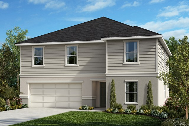 New Homes in Orlando, FL - Elevation E with optional stone