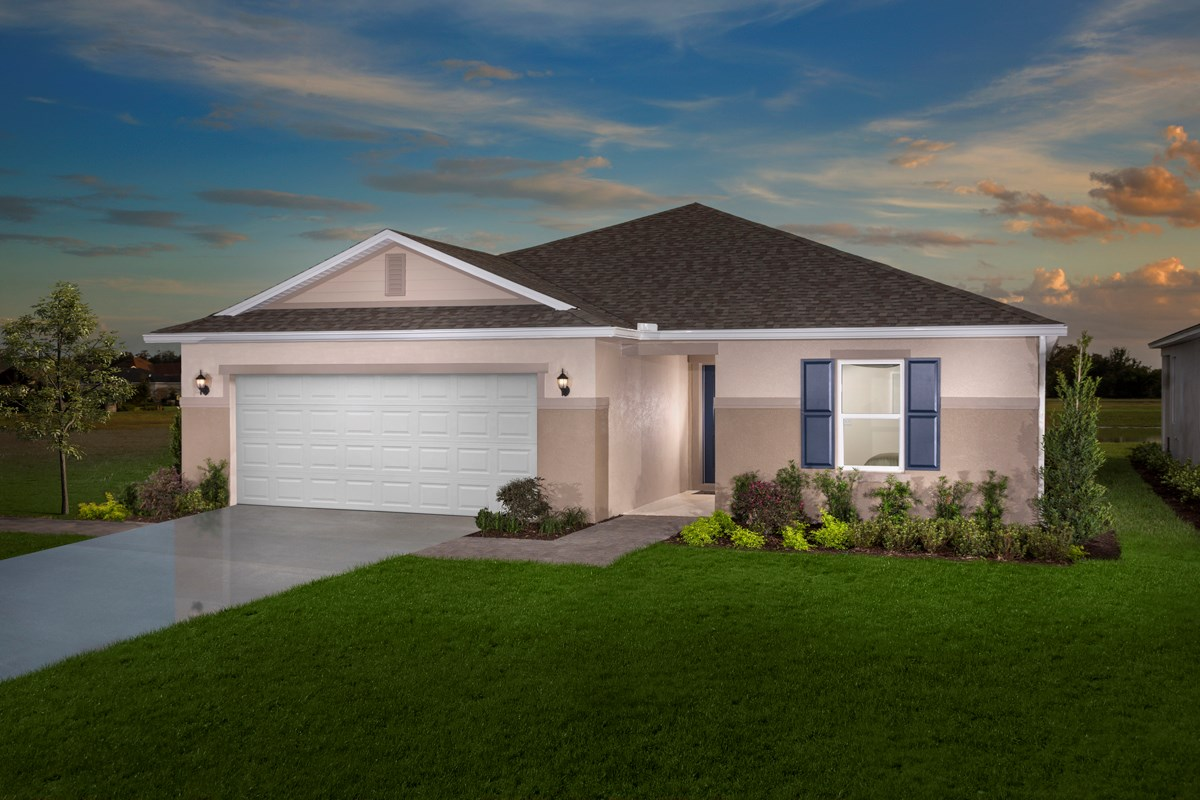 New Homes in St. Cloud , FL - Rivercrest at Narcoossee Plan 1707 as modeled at Creekstone