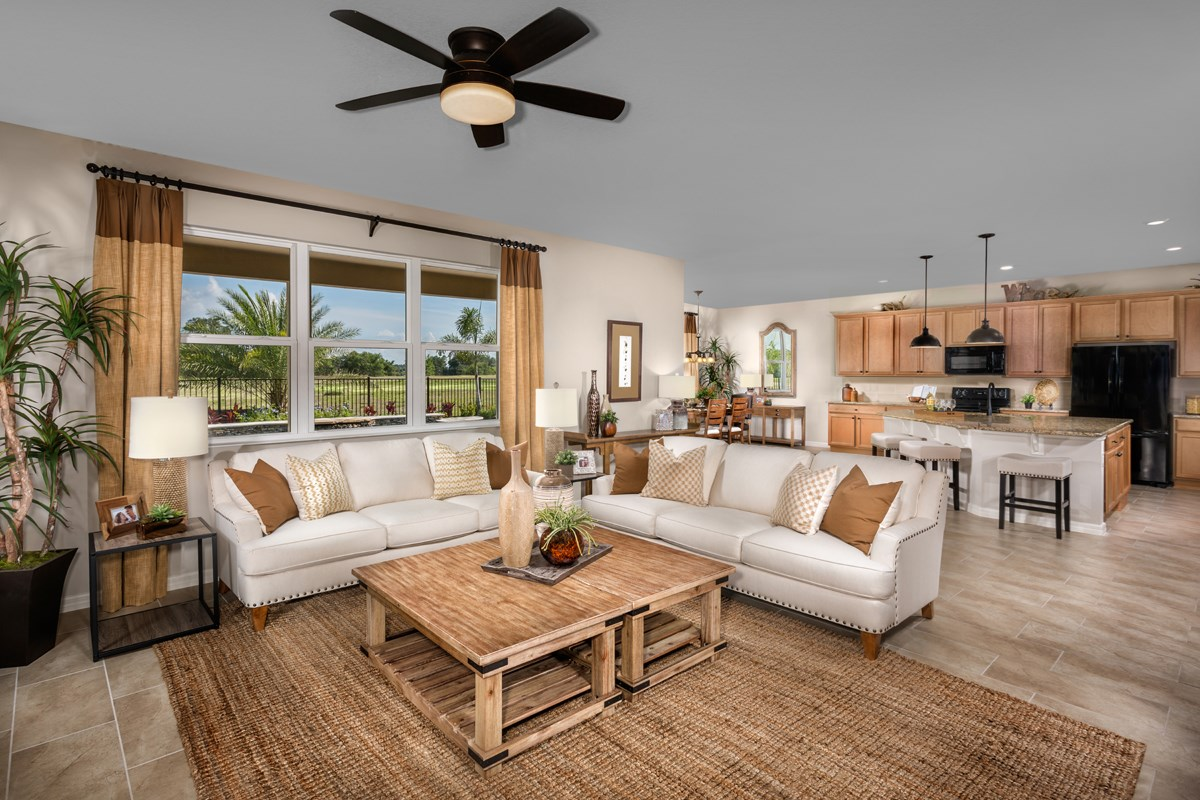 New Homes in Orlando, FL - Creekstone 2843 Great Room
