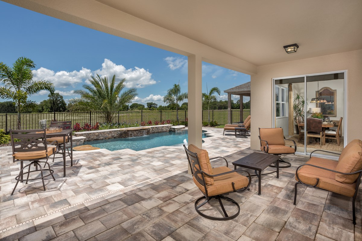 New Homes in Orlando, FL - Creekstone 2843 Patio