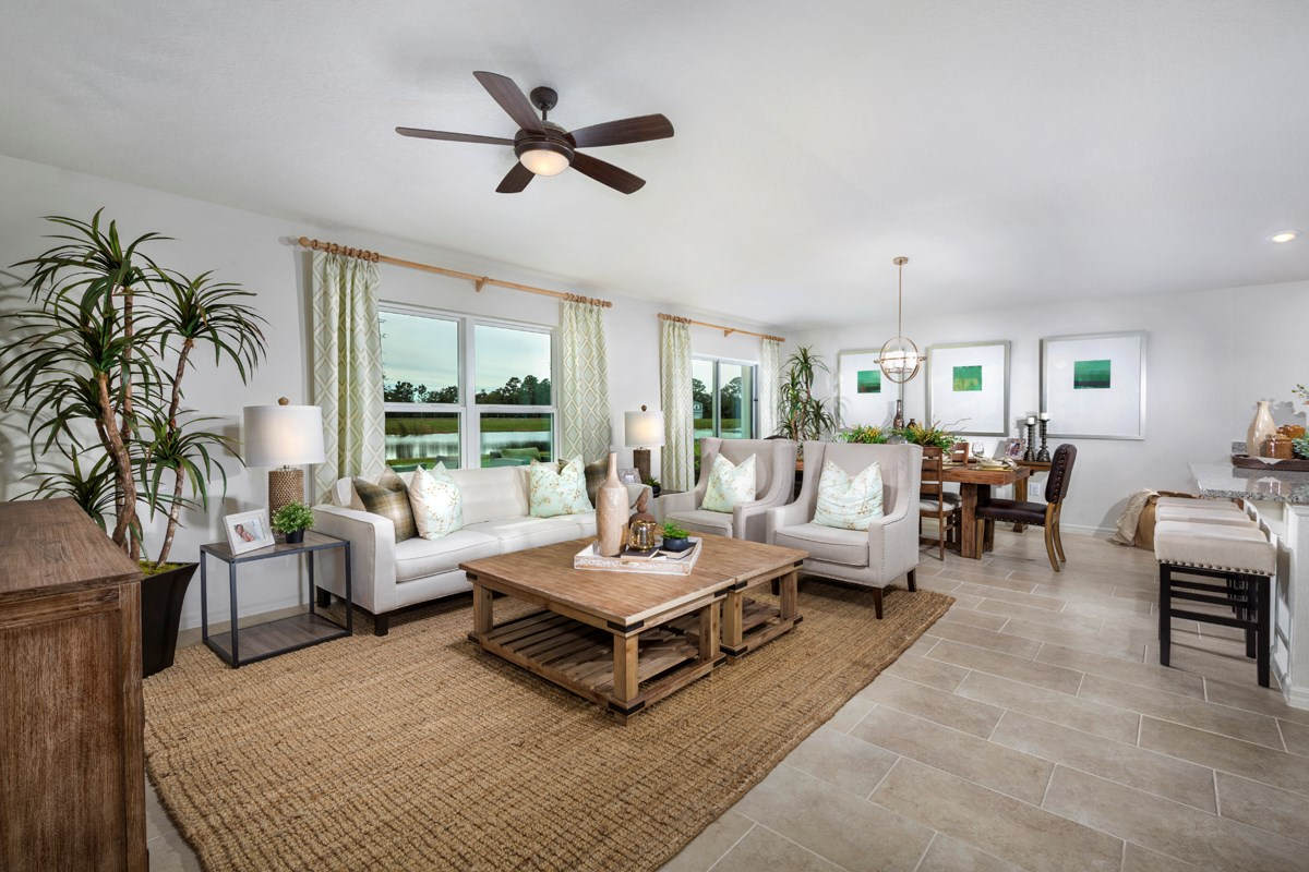 New Homes in Orlando, FL - Creekstone 1760 Great Room