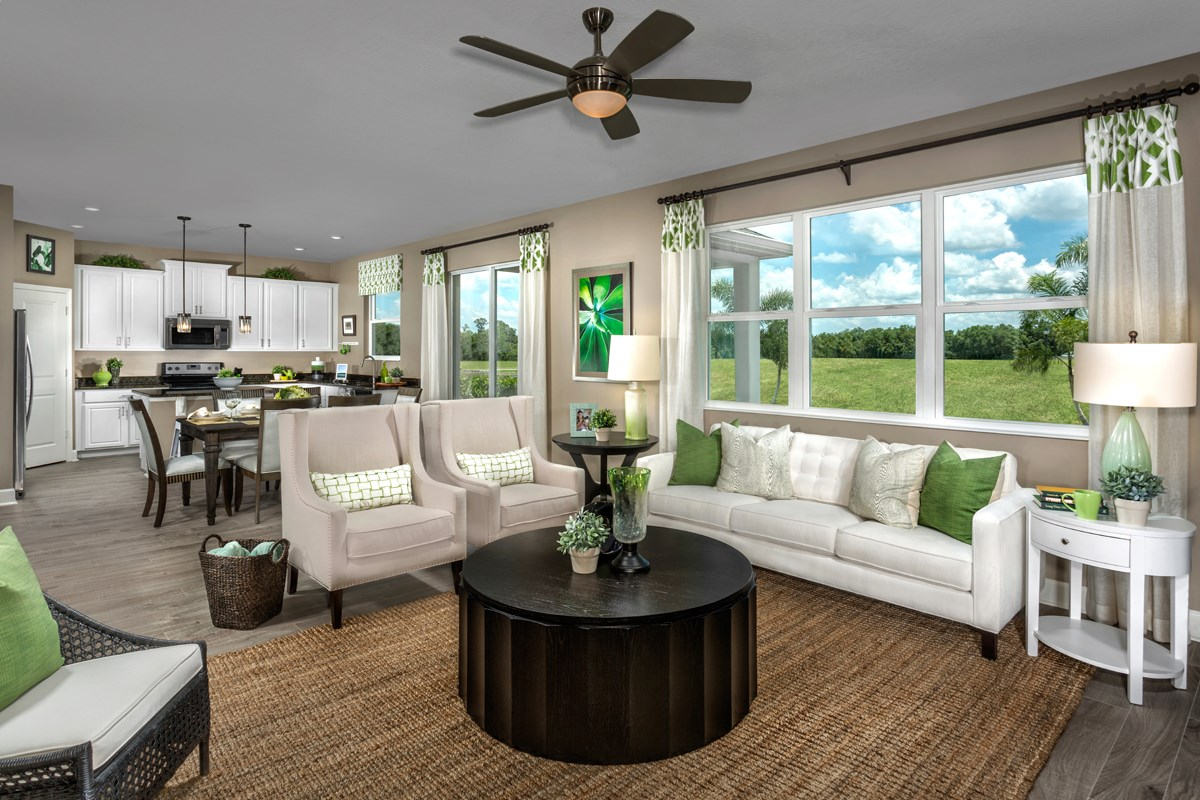 New Homes in Orlando, FL - Creekstone 1899 Great Room