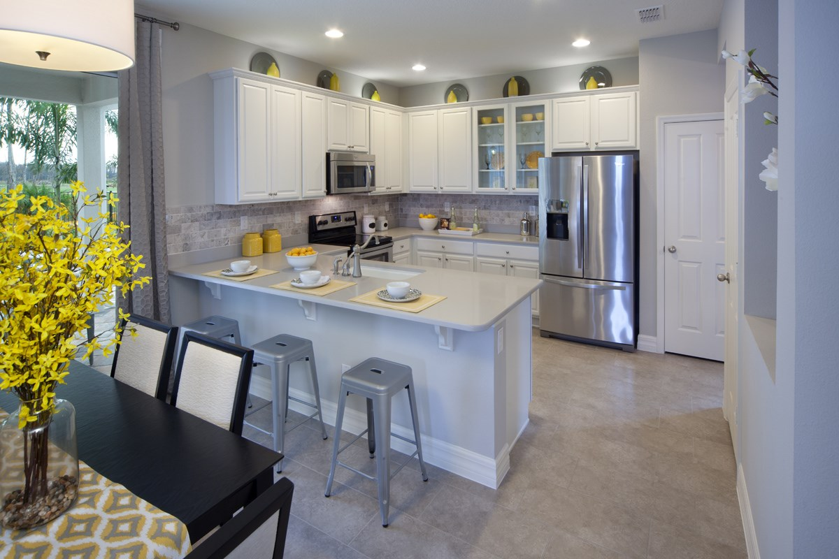 New Homes in Kissimmee, FL - Enclave at Tapestry II 3009 Kitchen
