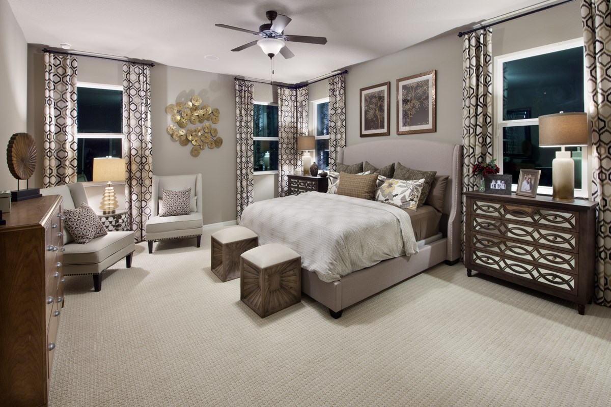 New Homes in Kissimmee, FL - Enclave at Tapestry II 2127 Master Bedroom