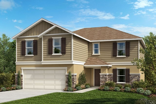New Homes in Mascotte, FL - Elevation G with optional stone