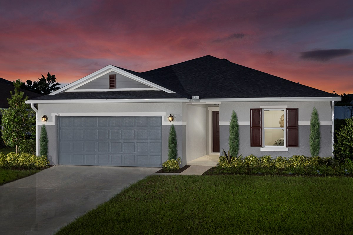 New Homes in Mascotte, FL - The Gardens at Lake Jackson Ridge Plan 1707