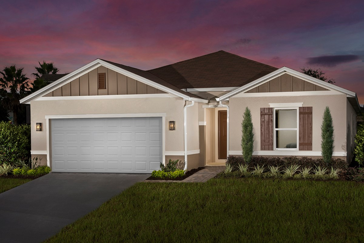 New Homes in Mascotte, FL - The Gardens at Lake Jackson Ridge Plan 1989 as modeled at Lake Lucerne