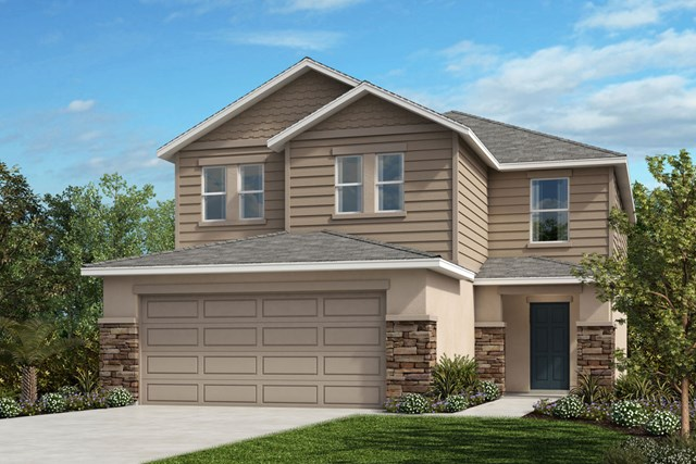 New Homes in St. Cloud, FL - Elevation H with optional stone