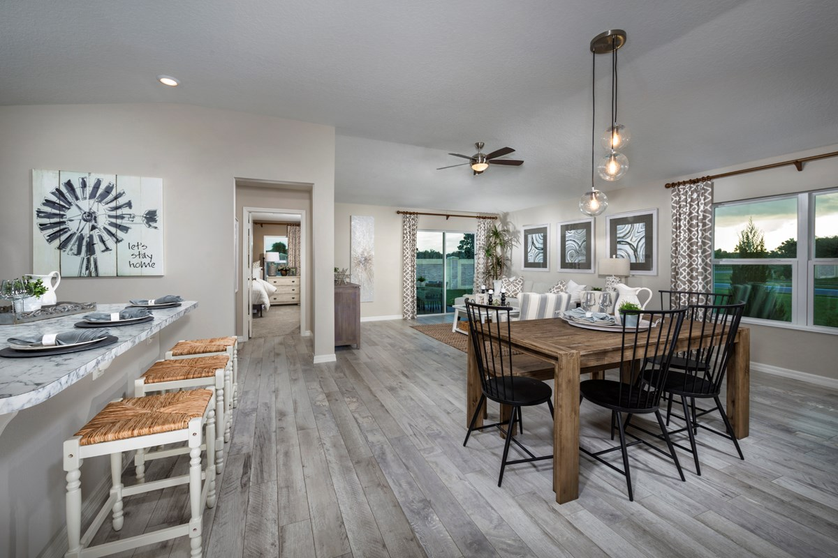New Homes in Davenport, FL - Preservation Pointe 1511 Great Room as modeled at Gramercy Farms II