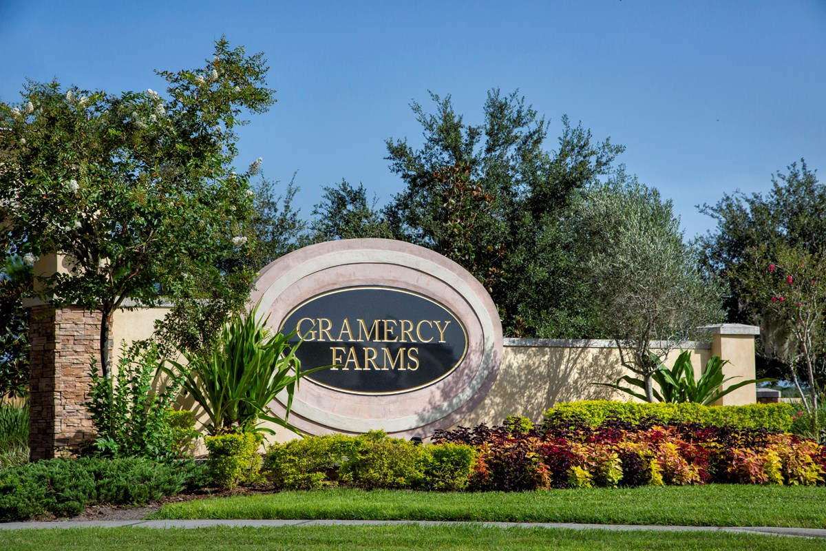 New Homes in St. Cloud, FL - Gramercy Farms Gramercy Farms Entry Wall