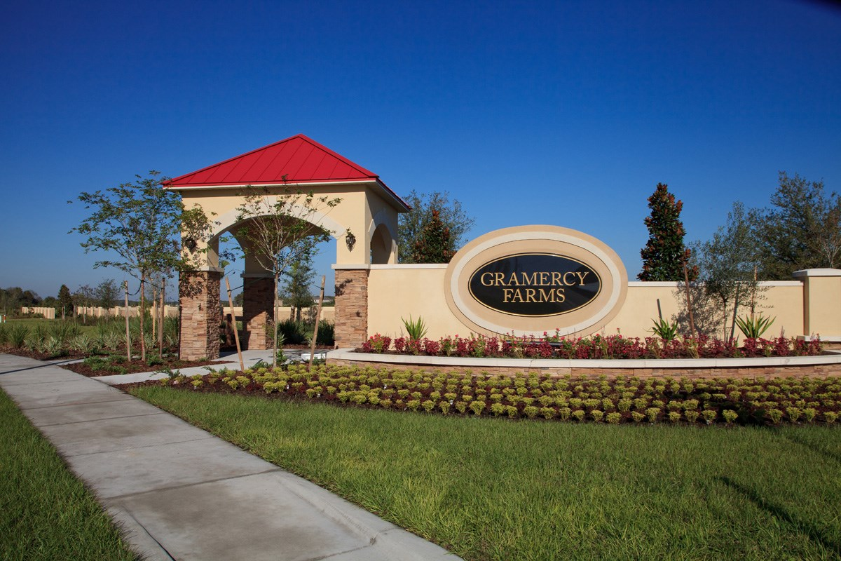 New Homes in St. Cloud, FL - Gramercy Farms Gramercy Farms Community Entrance