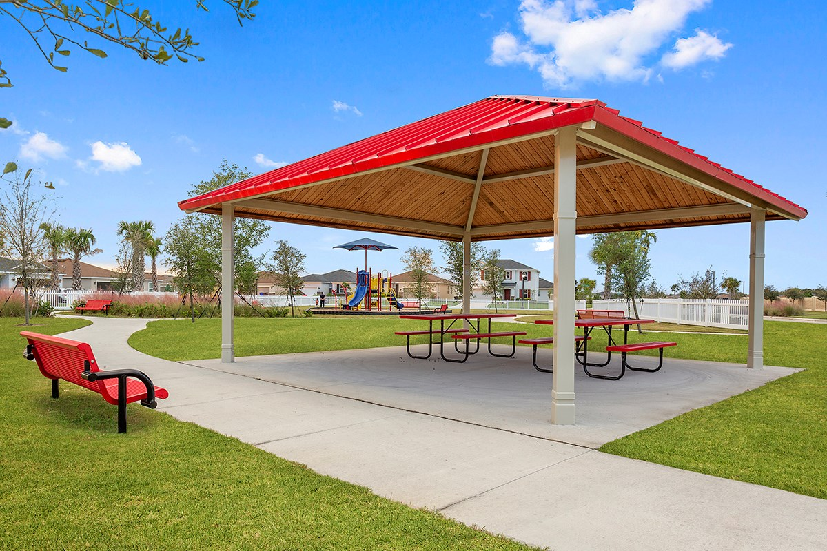 New Homes in St. Cloud, FL - Gramercy Farms II Gramercy Farms Picnic Area