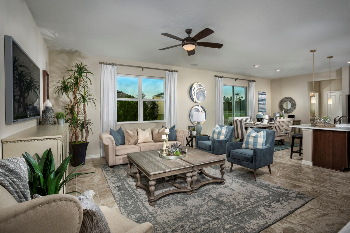 New Homes in St. Cloud, FL - Hanover Square 2716 Great Room