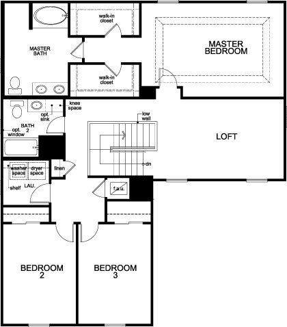 New Homes in St. Cloud, FL - Plan 2384, Second Floor