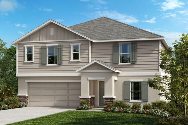 New Homes in Clermont, FL - Elevation G (with optional Stone)