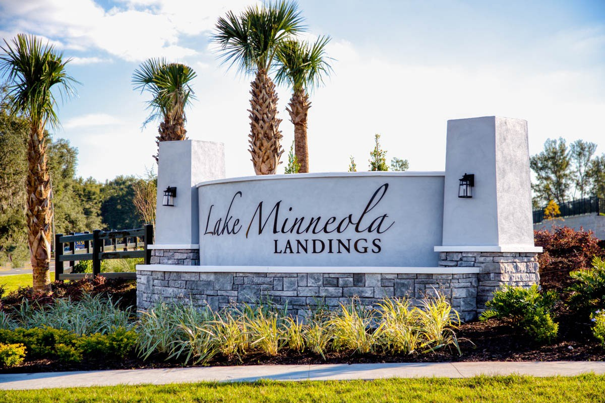 New Homes in Clermont, FL - Lake Minneola Landings Community Entry Monument