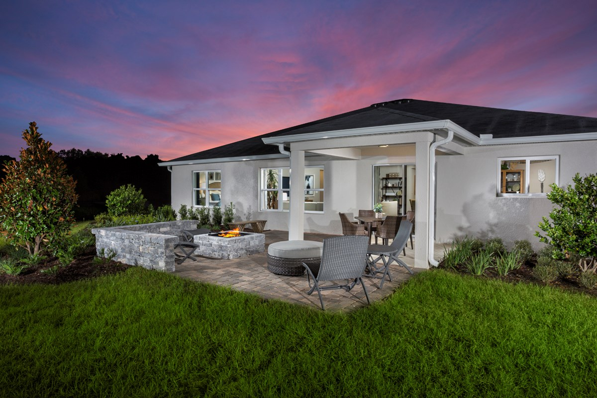 New Homes in Clermont, FL - Lake Minneola Landings Plan 2178 Back Patio