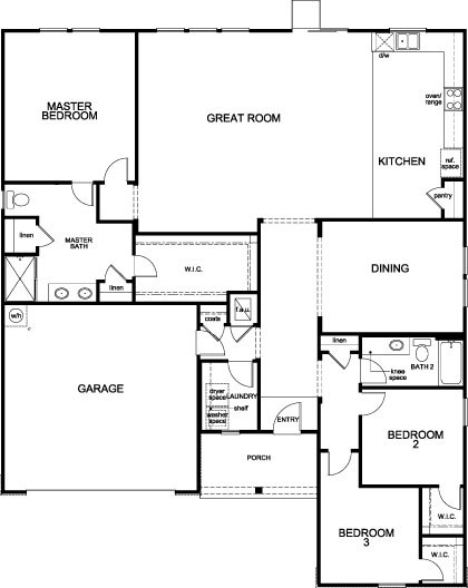 New Homes in Clermont, FL - Plan 2178 Modeled, First Floor