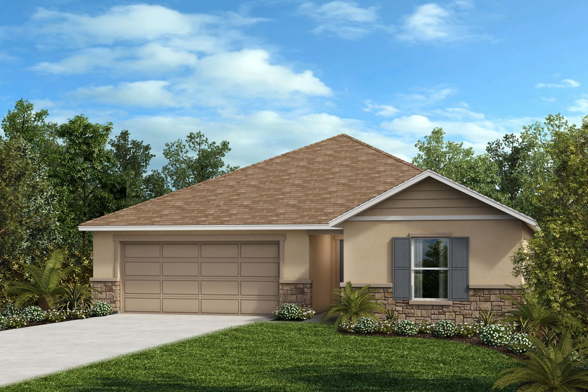 New Homes in Davenport, FL - Magnolia at Westside Elevation F with optional stone